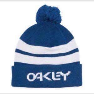 Oakley Pompom Strip Logo Beanie